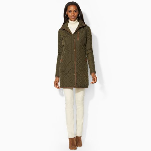 Tanger Outlets_Green Quilted Raincoat