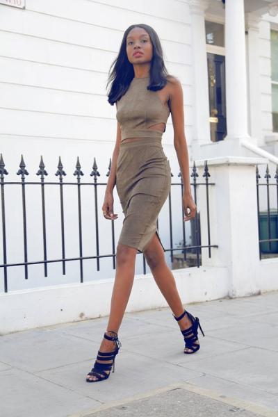 Suede dress 3